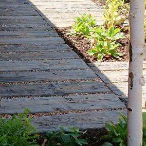 Mark Lane Designs, Artificial sleepers with planting around, Milton Keynes