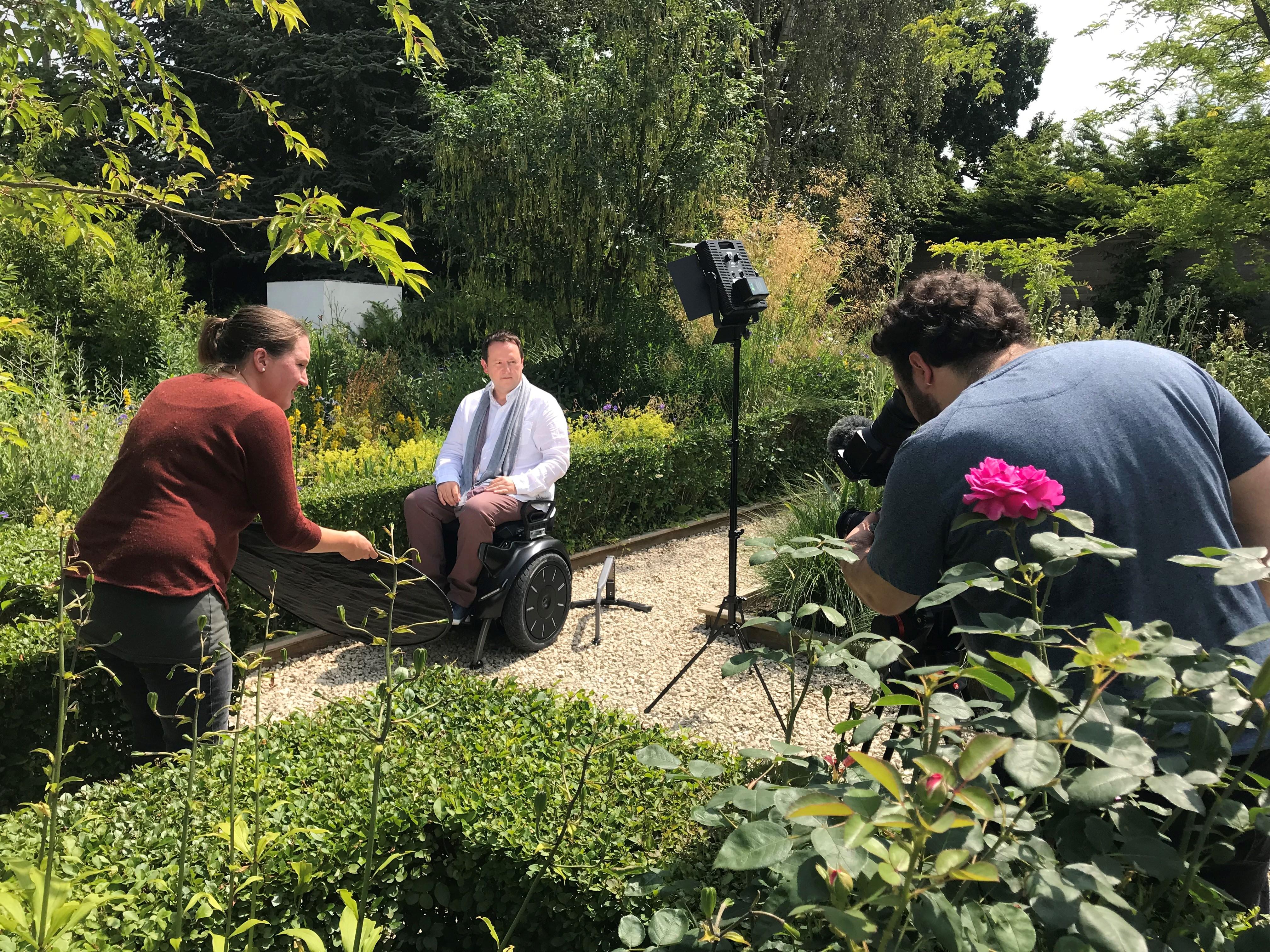 Mark Lane Designs, Mark Lane filming for Gardens and Health Week