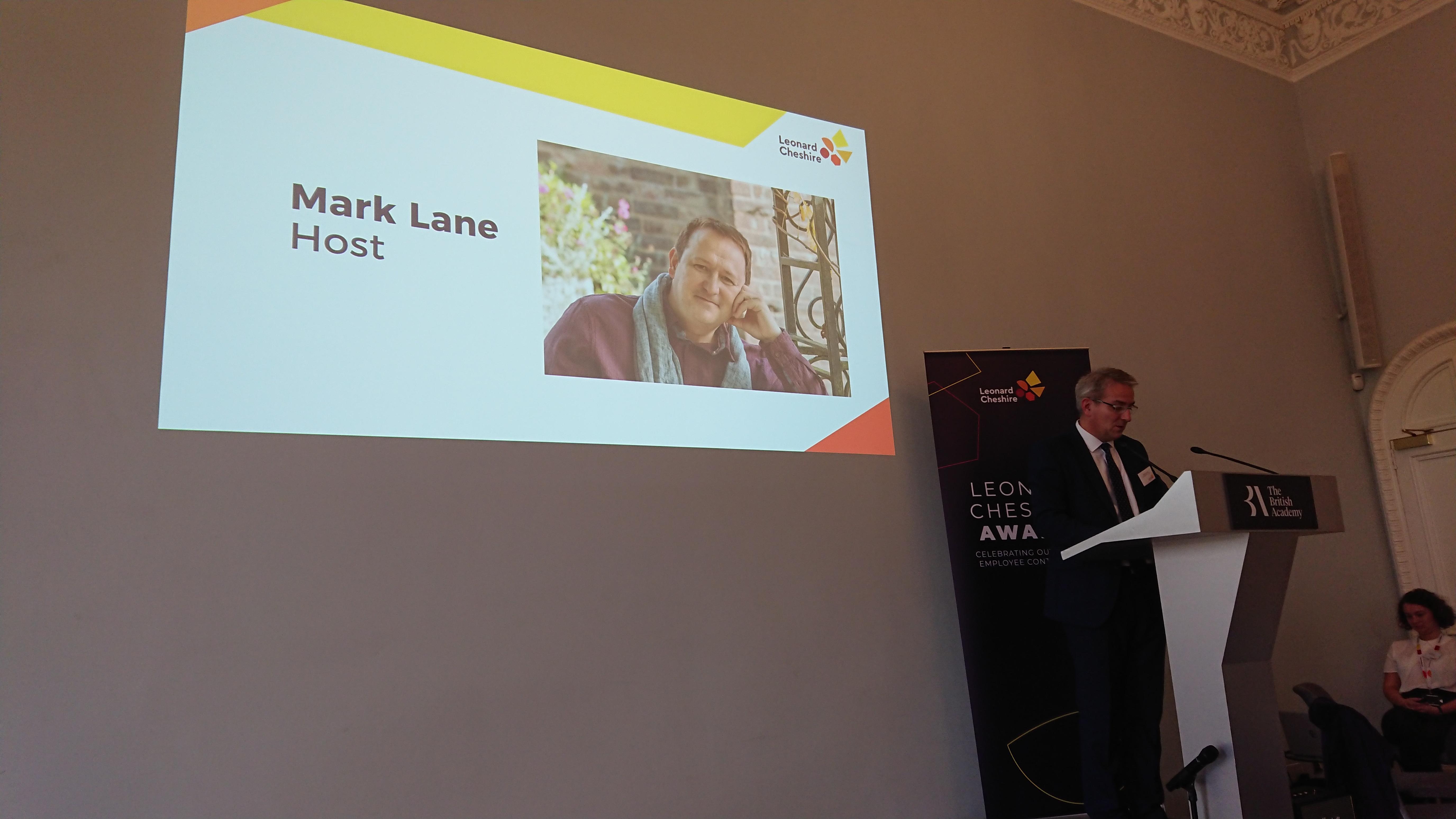 Mark Lane hosts Leonard Cheshire Awards
