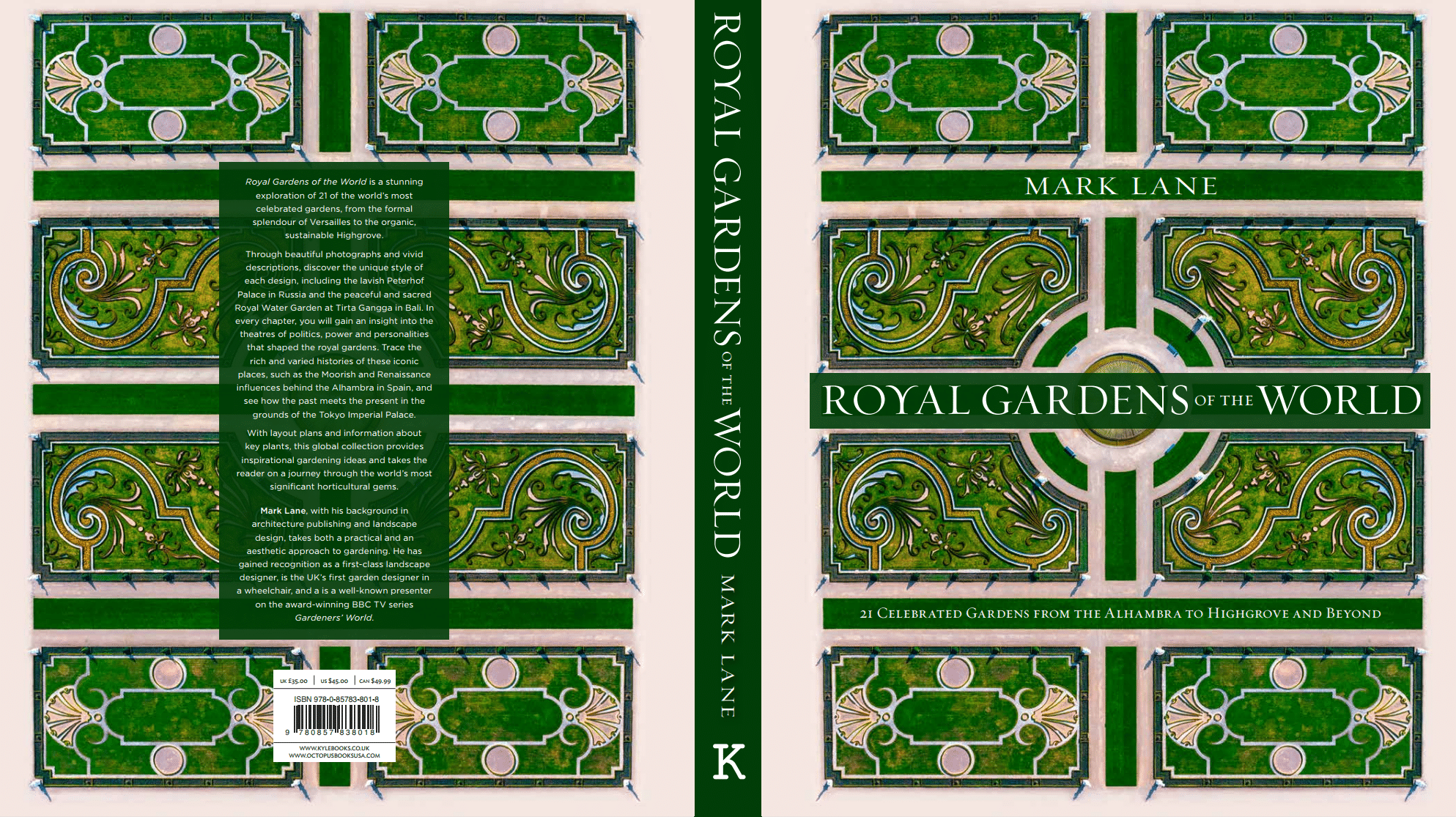 Royal Gardens of the World, Mark Lane, Kyle Books, Cover